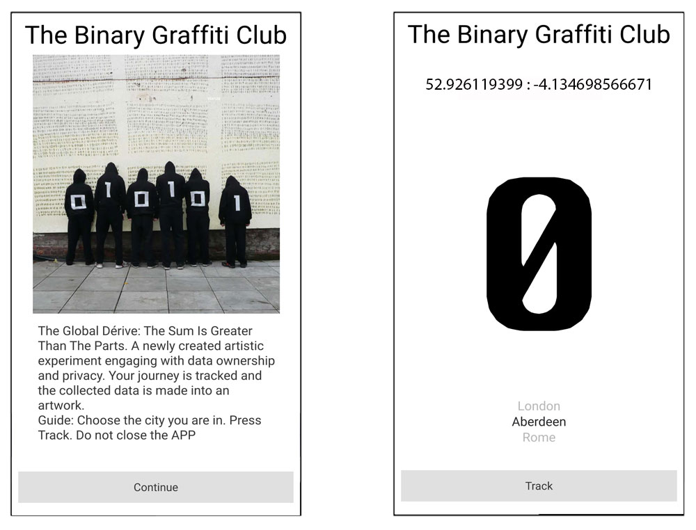 Stanza ,  art , graffitti, The Binary Graffiti Club, code, activism, The Binary Graffiti Club. An Art Project by Stanza,